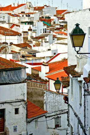 Street in People's festivities in Campo Maior, Portugal Stock Photo