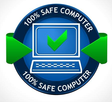 computer hacker: PC Badge sicuro