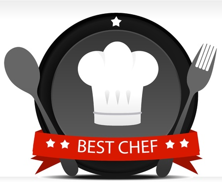 Chef Badge Stock Vector - 10827148