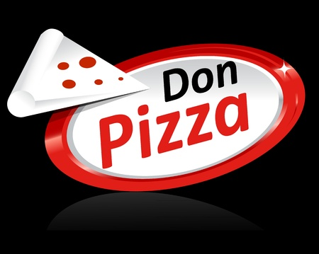 pizzeria label: Pizza Illustration Template