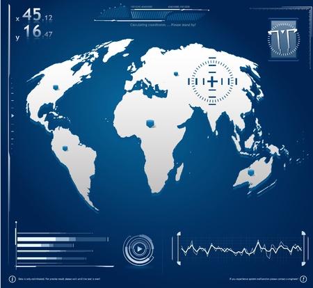 Hi-Tech pantalla Ilustraci�n