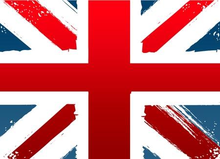 bandera inglesa: Grunge bandera de Inglaterra Vectores