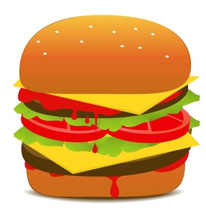 ketchup: Tasty Hamburger Illustration