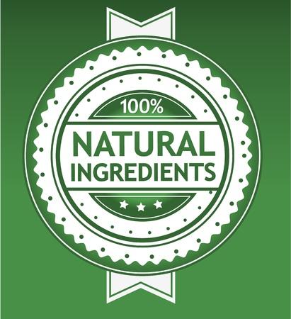 Insignia de ingredientes naturales