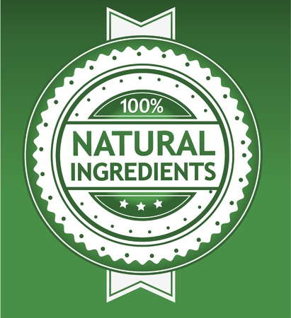 Natural Ingredients Badge Vector