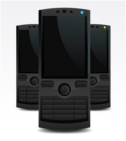 Stylish Classic Mobile Phones Vector