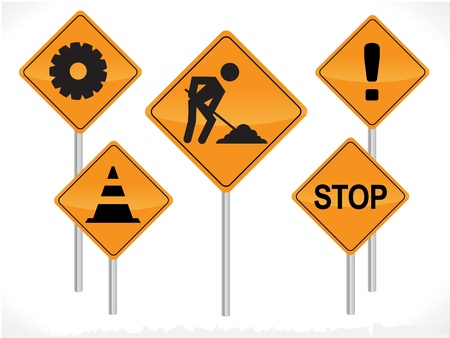 containment: Vector Construction Signs