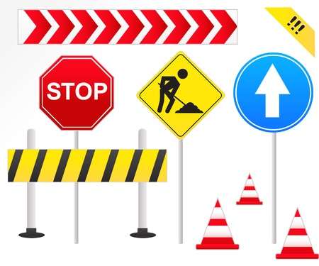 general warning: Road Signs Illustration