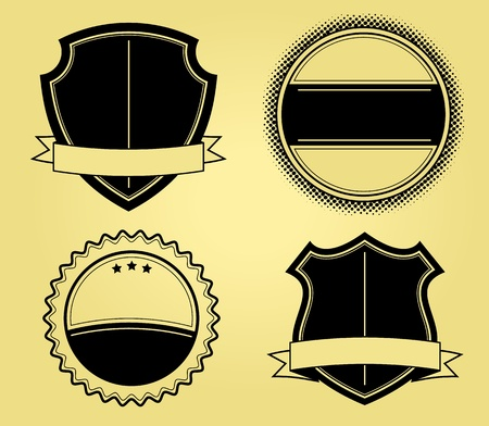 Shields Illustrations Vector