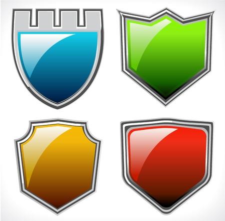 Set of vector shields Vector