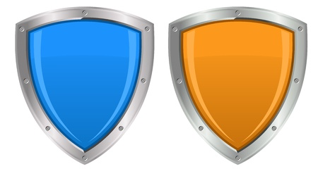 protection icon: Glossy Shields Illustration