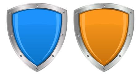 Glossy Shields Illustration