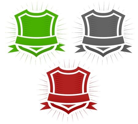 Classical Shield Illustration Set