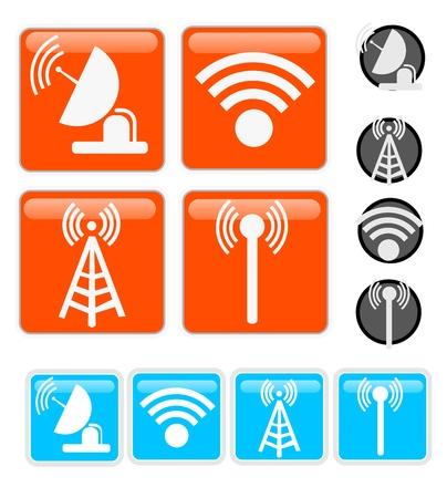 radio tower: Signal Vector Icons