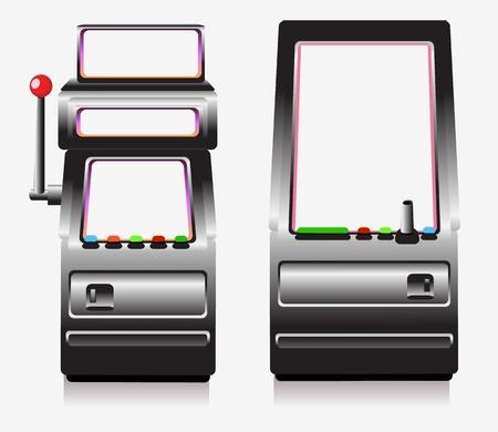 M�quinas tragamonedas y juegos de arcade Vectores