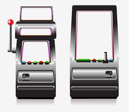 Slot machine and arcade game