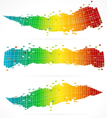 3 Abstract Colorful Backgrounds Stock Vector - 10827180