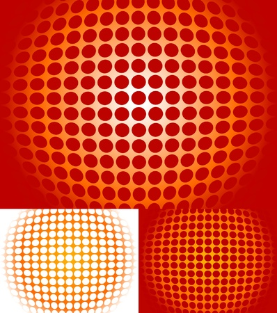 Resumen de fondo en diferentes combinaciones de colores Vectores