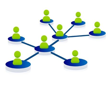 contacting: Web, community, network Illustration