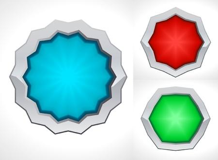 security token: shield like badges Illustration