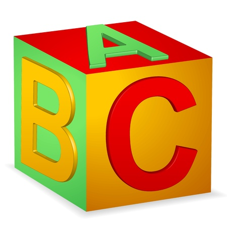 block letters: Abc Block Illustration