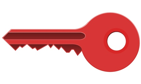 Red Key Stock Vector - 16727435
