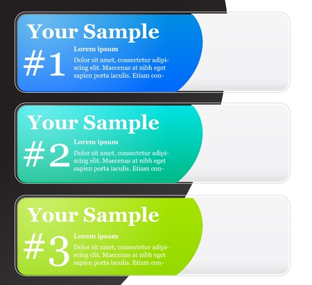 Numbered Banner Templates Stock Vector - 17076682