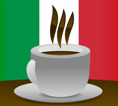 Italian Coffee Illustration Stock Vector - 17076680