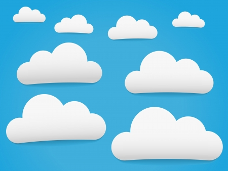 Cartoonish Horizontal Sky with clouds Stock Vector - 17076670