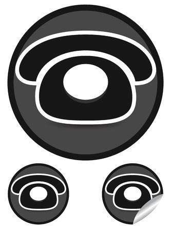 tele communication: Telephone Concept Icons Illustration