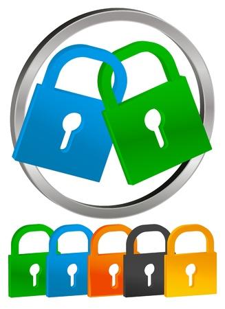 Lock Icons Stock Vector - 17308139