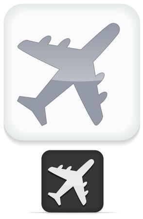 Airplane Icon Stock Vector - 17308140