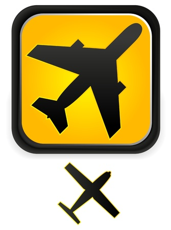 Airplane, Aircraft, Plane Icon Graphic Stock Vector - 17660103