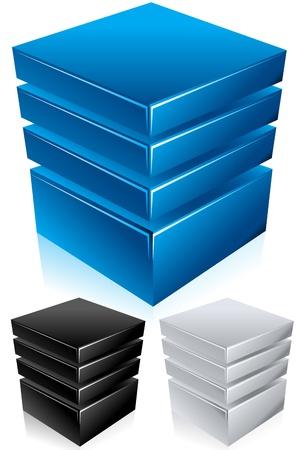 Rechenzentrum, Server, Daten-bank, Infrastruktur Vector Illustration Vektorgrafik