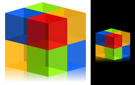 3d Cube Icon Stock Vector - 18546139