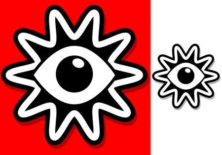 Eyes / Vision / Eyeball Icon - Retro vintage clipart- symbol Stock Vector - 19975648