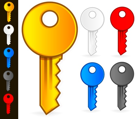 Stylish, Modern Key Icons Stock Vector - 20302420