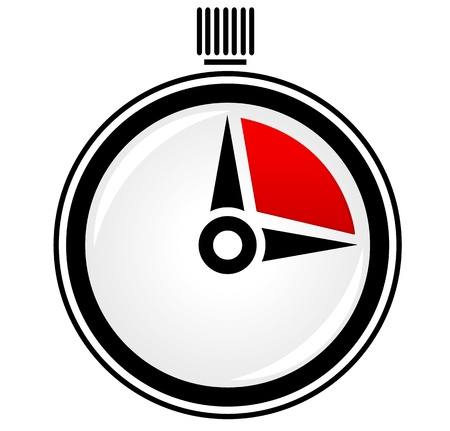 Simple and glossy stop watch, timer vector icon Vector