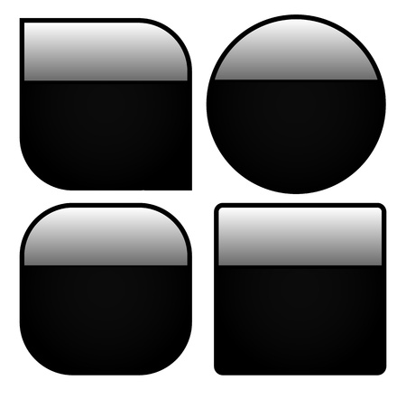 Shiny Button Shapes Vector