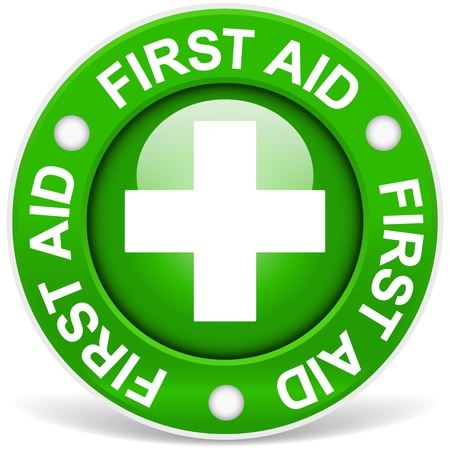 First Aid Sign Green Version Vector