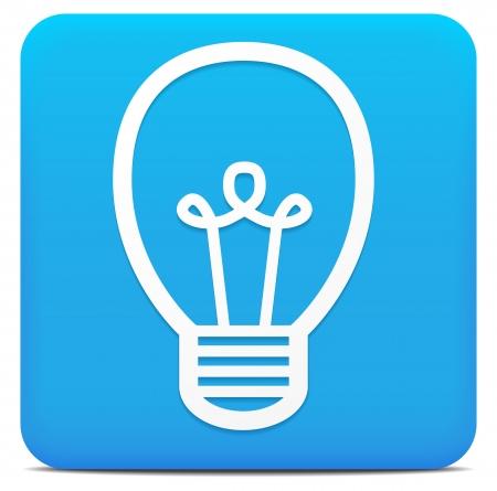 lizenzfrei: Gl�hbirne - Idee - Brainstorming - Strom Icon lizenzfreie Vektor