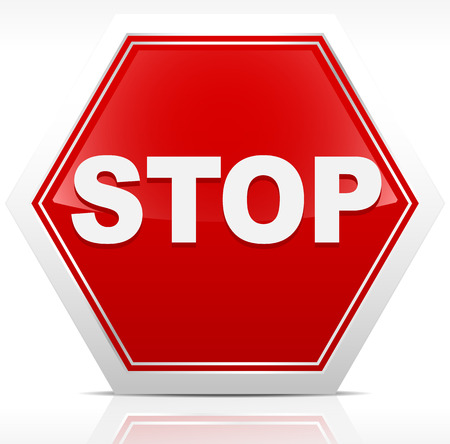 Stop sign with the word  stop  Illustration