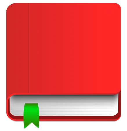 guidebook: Book Icon with bookmark