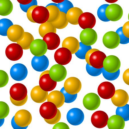 chain reaction: Floating Balls Background   Concept Image Illustration