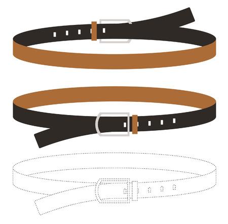 cintur�n de cuero: Cintur�n de cuero Vector illustratoin