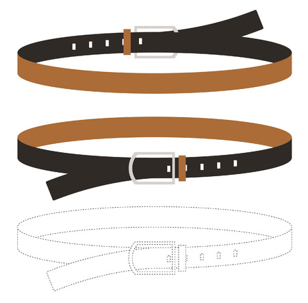 leather belt: Leather Belt Vector Illustratoin
