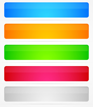 5 glossy banner backgrounds