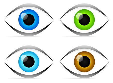 Eyes   Vision   Eyeball Icon - Retro vintage clipart- symbol