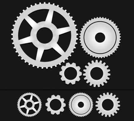 chain reaction: Gears vector Illustration