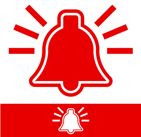 emergency response: Ringing Alarm Bell   Bell Pictogram Illustration